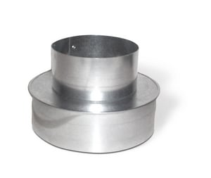 Lukjan Metal Products 3 in. Galvanized Cap Reducer No Crimp SHMCRNCM