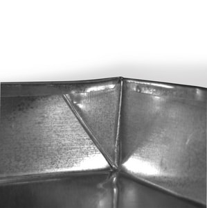 Lukjan Metal Products 20 x 30 in. Galvanized Drainpan with 2 Drain SHMDP2030