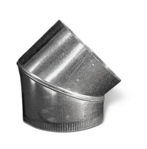 Lukjan Metal Products 26 ga Galvanized Adjustable 45 Degree Elbow SHM426