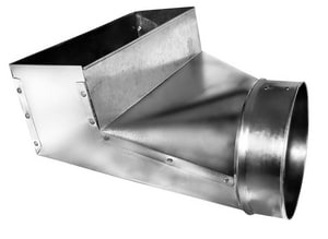 Lukjan Metal Products 6 x 12 in. Galvanized Angle Register Boot SHMARBU12U