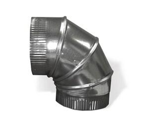 Carbon Steel Galvanized Spiral 90 Degree Elbow SHMSP9