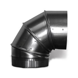 Lukjan Metal Products 30 ga Galvanized Adjustable 90 Degree Elbow SHM930