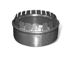 Lukjan Metal Products Galvanized No Crimp Starting Collar SHMCNC