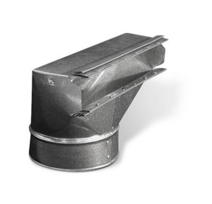 Lukjan Metal Products 3-1/4 x 10 in. Galvanized Angle Stack Boot SHMASB31410