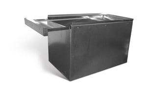 Lukjan Metal Products 28 x 18 in. Galvanized Furnace Box with Filter Drawer SHMFBFD2818