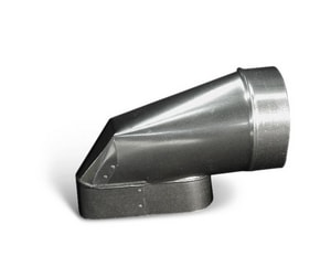 Lukjan Metal Products 7 in. Galvanized Round End Boot SHMOREBWU