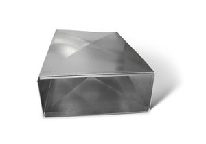 Lukjan Metal Products 24 x 8 in. Trunk Duct SHMTD24X