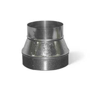 Lukjan Metal Products 6 in. 26 ga Galvanized No-Crimp Tapered Reducer SHMRNCYU