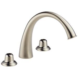 Delta Faucet Providence Classic™ Double Lever Handle Open Right Roman Tub Faucet D6720LHP