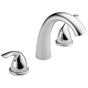 Delta Faucet Classic® 3-Hole Roman Tub Faucet Double Metal Lever Handle Deckmount (Trim Only) DT5722