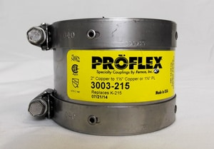 Fernco Proflex® 2 x 1-1/2 in. Copper Flexible Coupling F3003215