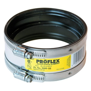 Fernco Proflex® Cast Iron x Plastic or Steel Flexible Coupling FER3000