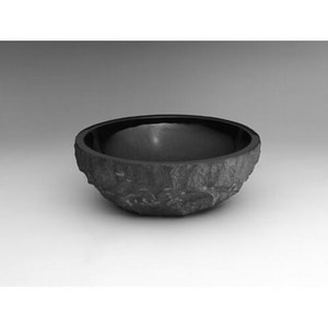 Ronbow 17 x 6-1/4 in. Round Natural Granite Vessel R350301AB