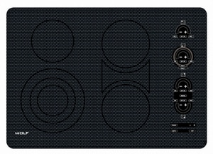 Wolf Range 30 in. Electric Cooktop Unframed in Stainless Steel WCT30EU