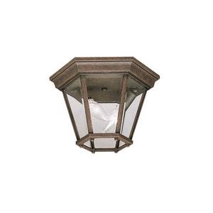Kichler Lighting 60 W 2-Light Candelabra Outdoor Semi-Flush Mount Ceiling lantern KK9850