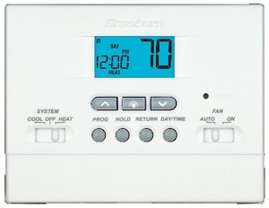 Braeburn Systems Builder 1-Heat 1-Cool Digital Programmable Thermostat (Less Cover) in White BRA2000NC