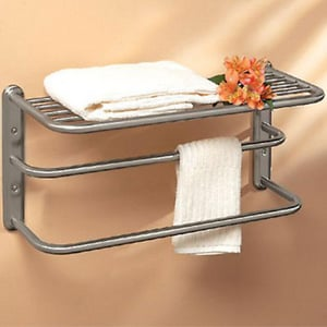 Gatco Contemporary 10 in. Double Towel Bar G1541SN