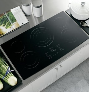 General Electric Appliances Profile™ 36 in. Built-In Clean Electric Cooktop GPP975BM