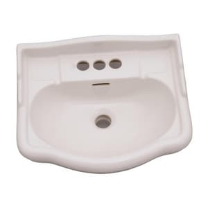 Barclay Products Limited Stanford™ 3-Hole Pedestal Bathroom Lavatory Sink BB3874