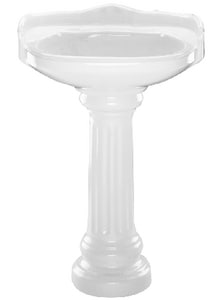 PROFLO® 26-3/8 x 22-3/16 in. Vitreous China Lavatory Sink with 4 in. Centerset Faucet in White PF1123WHP