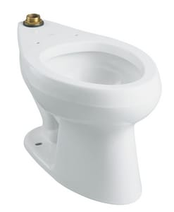 Kohler Wellworth® Elongated Floor Mount Toilet Bowl K4406-L