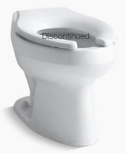 Kohler Wellworth® Elongated Floor Mount Toilet Bowl with Top Inlet K4406