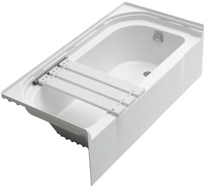 Sterling Plumbing Group Accord® Right-Hand Drain with Seat on Left-Hand Bath Tub in White S711411240