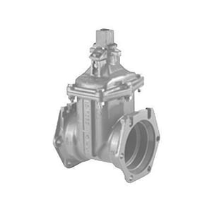 American Flow Control Open Left Resilient Wedge Gate Valve Antique Black Gold AFC25FMLAOLBG