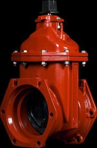 American Flow Control Mechanical Joint Resilient Wedge Open Left Tapping Valve (Less Accessories) AFC25TMLAOLBG
