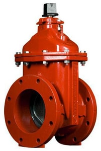 American Flow Control 2500 Series 12 in. Ductile Iron Flange Open Right Resilient Wedge Gate Valve with Operating Nut AFC2512FFORRW