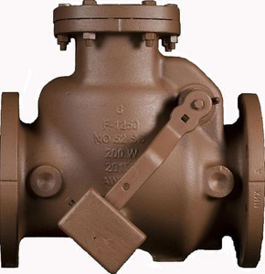 American Flow Control-Acipco Series 52-SC Epoxy Coated Cast Iron Flanged Check Valve AFC52SCRSLWEL