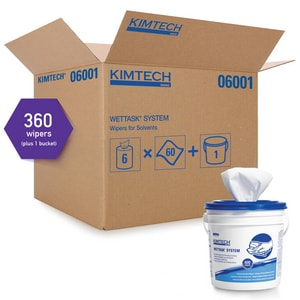 Kimberly Clark Kimtech® 12-1/2 x 12 in. Wiper for Solvents in White (Case of 6) KIM06001