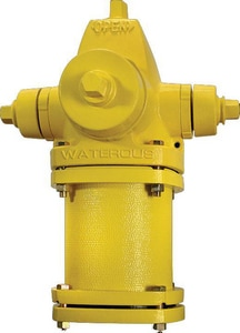 American Flow Control 7 ft. x 5-1/4 in. Open Hydrant Less Accessories Yellow WWB67LAOLYELL