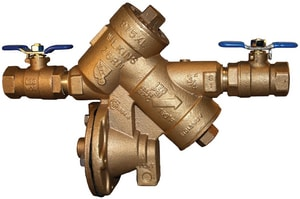 Wilkins Regulator Threaded Bronze Backflow Preventer with Lever Handle W975XL