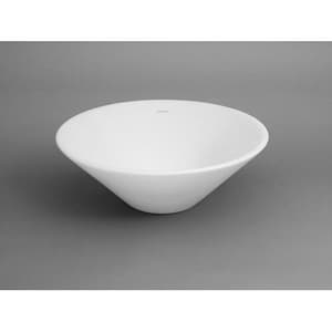 Ronbow 16-1/4 in. Round Geometric Ceramic Vessel in White R200006WH