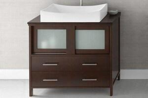Ronbow Minerva 36-1/4 in. 4-Drawer 2-Door Wood Cabinet R035836