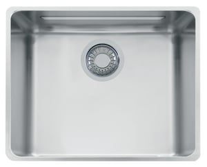 Franke Consumer Products Kubus 1-Bowl Undermount Kitchen Sink with Rear Center Drain FKBX11018