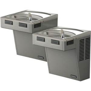 Elkay Self- Contained Bi- Level Wall- Mount Non Refridgerated Drinking Fountain Grey EEMABFTLDDLC