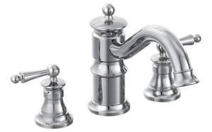 Moen Waterhill™ 3-Hole Roman Tub Faucet Trim with Double Lever Handle (Trim Only) MTS214