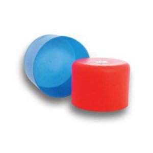 A Series OD and Push-In Straight LDPE Cap in Blue EAWRA
