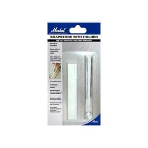 La-Co Soapstone Holders® Flat Marker for Metal Surface Welding with Holder in White (Case of 24) L80142
