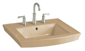 Kohler Archer® 3-Hole Rectangular Pedestal Bathroom Sink Basin with 8 in. Widespread K2358-8