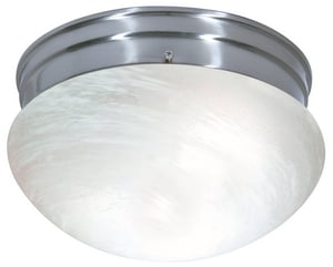 Nuvo Lighting 2 Light 60W 9-1/2 in. Flush Mount Alabaster Mushroom Ceiling Fixture N766