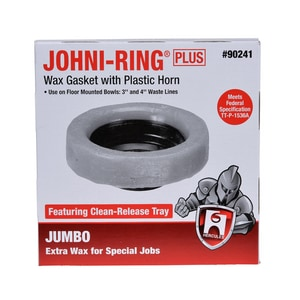 Hercules Chemical Johni-Ring® Petroleum Wax Ring Gasket with Horn H90241