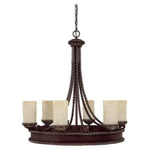 Capital Lighting Fixture Highlands 60 W 6-Light Medium Chandelier C3056WB261