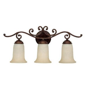 Capital Lighting Fixture Cumberland 5-1/4 in. 100 W 3-Light Medium Bracket in Burnished Bronze C1483BB251