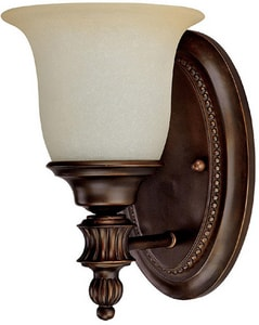 Capital Lighting Fixture Avery 100 W 10-1/2 in. 1-Light Medium Wall Sconce in Burnished Bronze C1701BB291