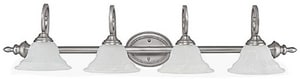 Capital Lighting Fixture Chandler 100W 4-Light Vanity Fixture in Matte Nickel C1804MN222