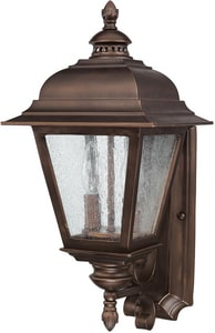 Capital Lighting Fixture Brookwood 10-1/4 in. 60 W 2-Light Candelabra Wall Lantern C9962BB