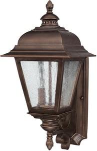 Capital Lighting Fixture Brookwood 10-1/4 in. 60 W 2-Light Candelabra Wall Lantern in Burnished Bronze C9962BB